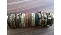 natural hemp bracelets with leather