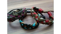 genuine leather hemp bracelets braids handmade 2015
