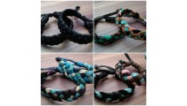 genuine leather hemp bracelets braids handmade