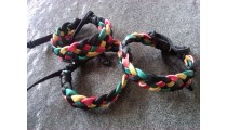 genuine leather hemp bracelets braids handmade indonesia