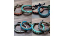 leather bracelet hemp for men's designs bali