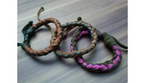 leather bracelet hemp for men's designs friendship