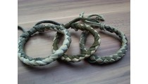 leather bracelet hemp for men's designs mix