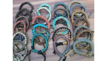 leather bracelet hemp ungender designs mix color