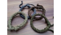 leather genuine bracelet hemp for men's designs
