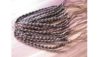 friendship hemp bracelet leather braids two colors