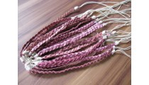 mono color friendship bracelet leather braids handmade