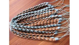 two color friendship bracelets braided handmade design