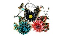 bali cow leather bracelets designs flower