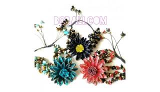 bali cow leather bracelets designs flower