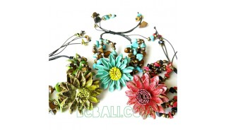 bracelets leather flower jewelry designs charms