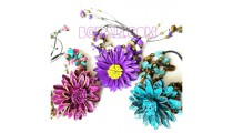 women leather jewelry bracelets flowers 3 color
