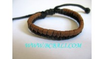 Men's Bracelets Leather Surf