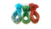 braids bracelets string charming glass beads