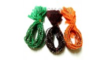 3 color braids friendship bracelet string charm