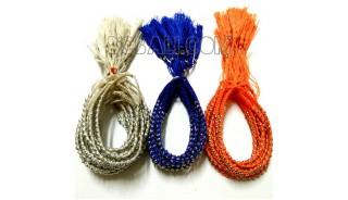 3 color bracelets string charm silver beads