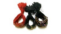 3 color braids strings charm glass beads bracelet