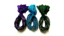 friendship bracelet braided crochet beads tassels