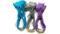 3 color silver beaded braids tassel bracele