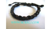 Twice Leather Hemp Bracelet Men's
