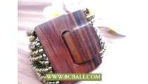 Natural Wooden Clasps Bracelets Beading