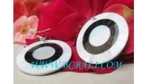 Sea Shell Earrings Circle Motif