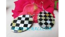 Chest Shell Resin Earrings