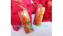 Drop Earring Resin Hand Painting Color