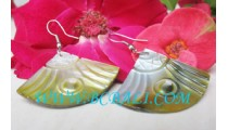 Earring Carving Shell Golden