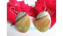 Golden Seashells Earring Hooks Handmade
