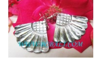Carving Earrings Shells Handmade Indonesia