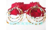 Multi Color Bead Earring Women's