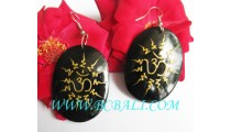 Wooden Hand Painted Earrings Fashion