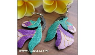 Assorted Coloring Wooden Earrings Carving Fashion