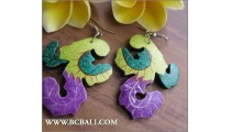 Assorted Wood Painted Earring Carving