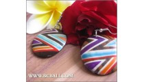 Bali Colored Wood Earrings Fashion