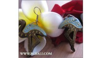 Bali Wooden Earrings Swan Coloring Fashion
