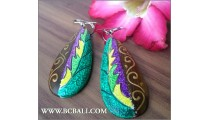 Balinese Woods Painting Earring Fashion