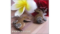 Fashion Wood Rabbit Earrings Painting Carving