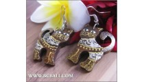 Handmade Wooden Earrings Cat Coloring Carving