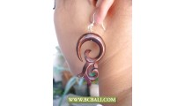 Bali Natural Woods Hand Carved Earring