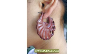 Bali Organic Earring Woods Carving