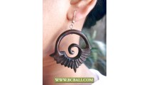 Bali Wooden Earring Carving