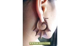 Balinese Carved Wooden Earring Fashion