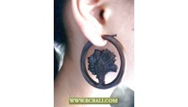 Fashion Wooden Earring Carving