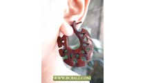 Organic Wooden Earring Hand Carving