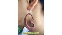 Handmade Earring Wooden Sono Carving