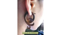 Handmade Pierced Wooden Ear Carved