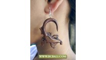 Natural Sono Wooden Earring Hand Carving