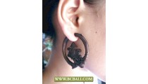 Organic Wooden Earring Carving